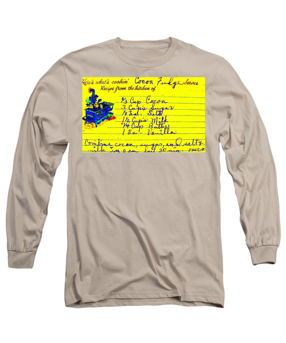 Recipe Long Sleeve T-Shirt featuring the photograph Moms Old Recipe by Ed Smith