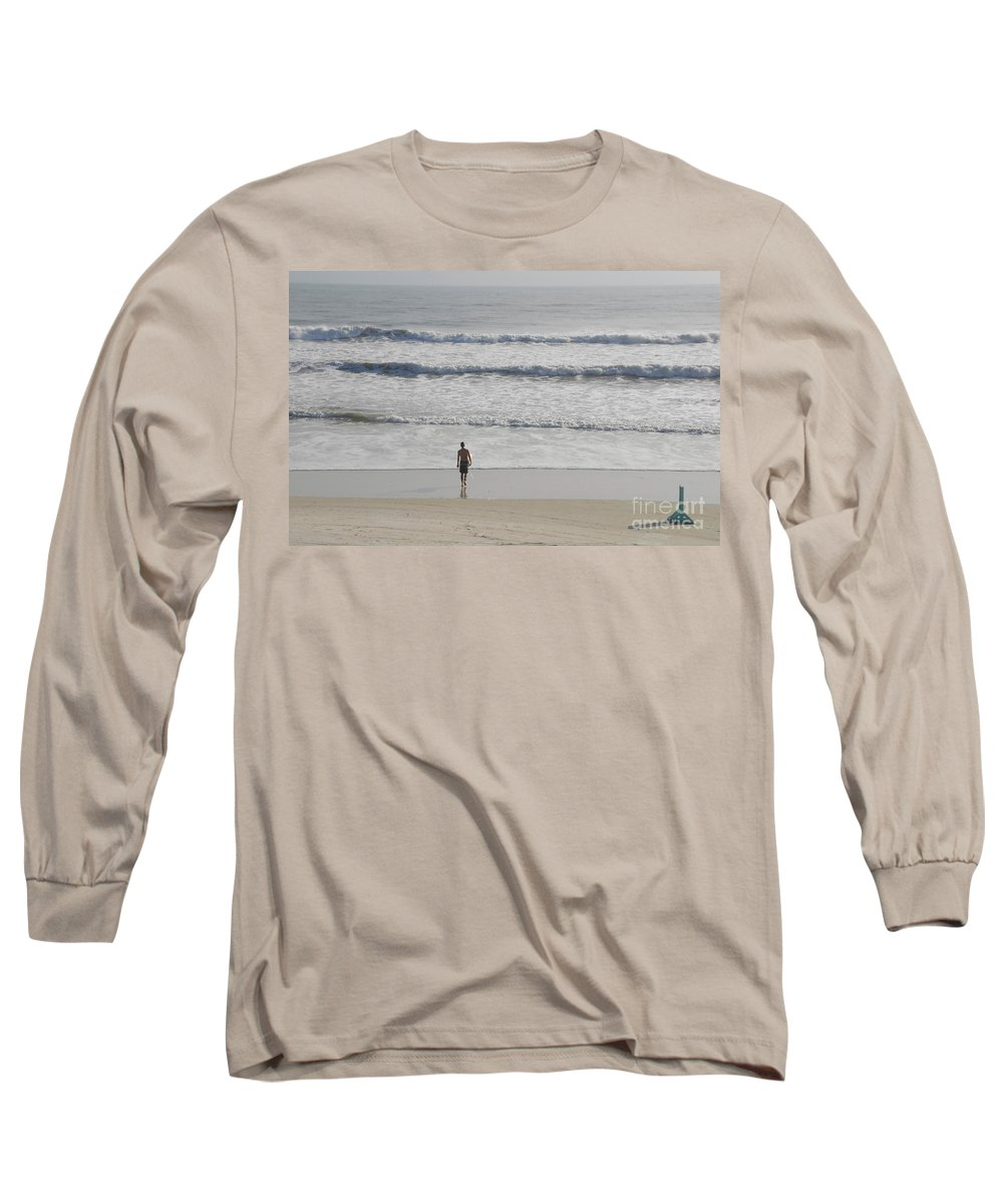 Surfing Long Sleeve T-Shirt featuring the photograph Morning Surf by David Lee Thompson