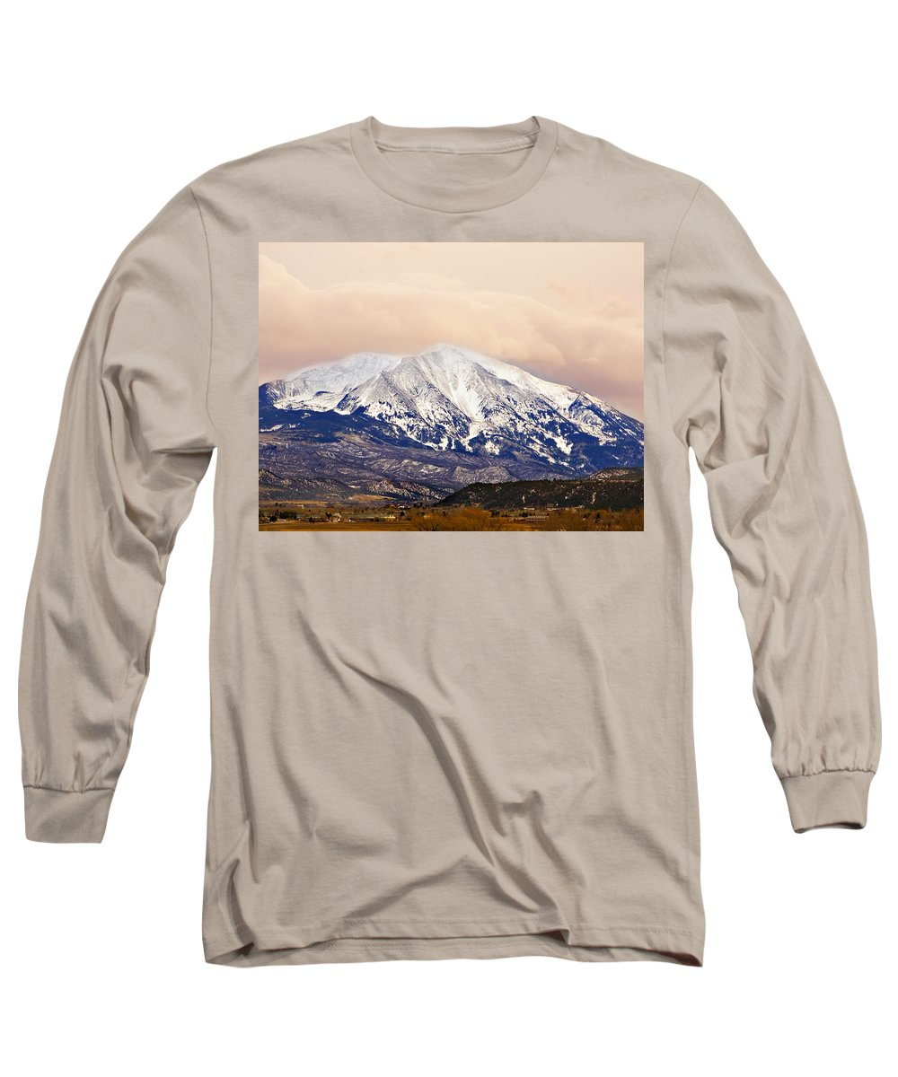 Americana Long Sleeve T-Shirt featuring the photograph Mount Sopris by Marilyn Hunt