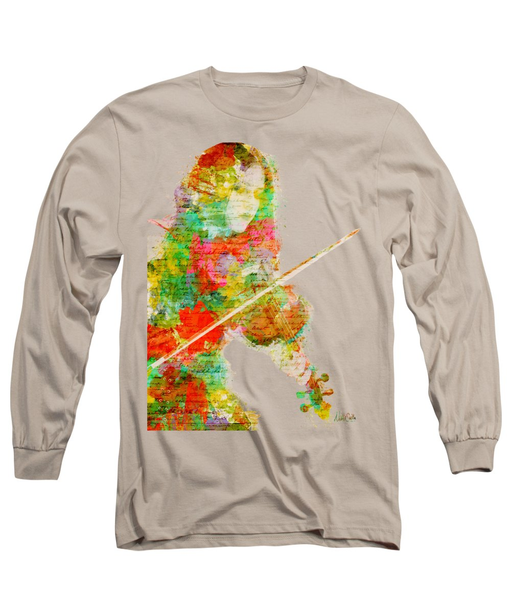 Violin Art Long Sleeve T-Shirts