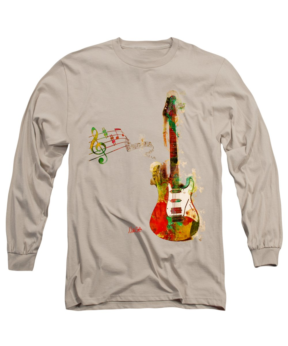 Guitar Long Sleeve T-Shirt featuring the digital art My Guitar Can Sing by Nikki Smith