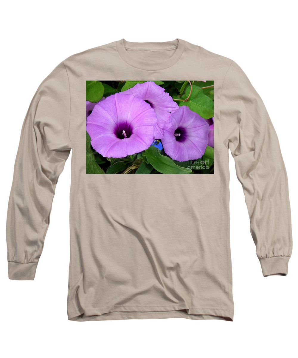 Nature Long Sleeve T-Shirt featuring the photograph Nature In The Wild - Morning Bells by Lucyna A M Green