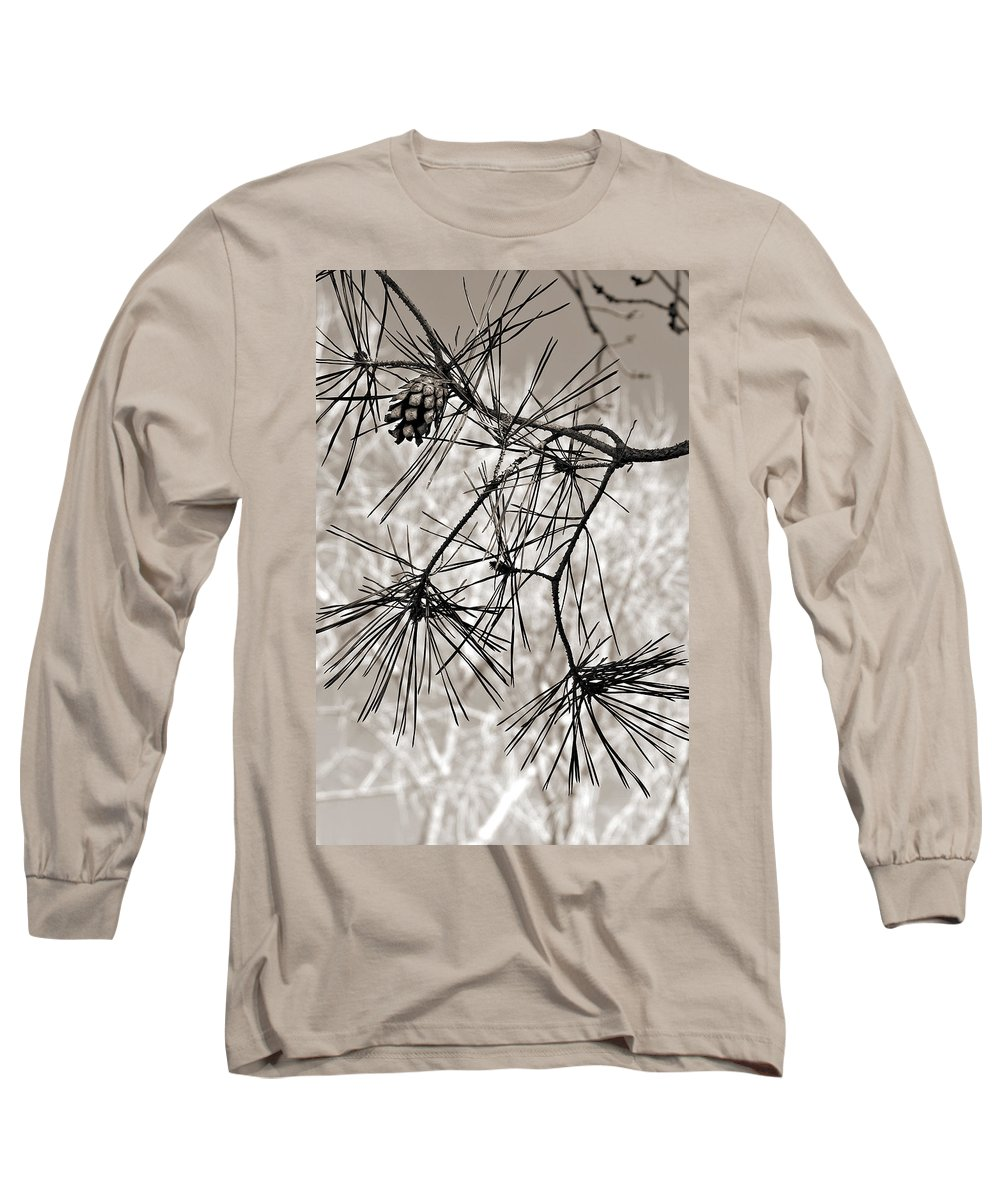 Tree Long Sleeve T-Shirt featuring the photograph Needles Everywhere by Marilyn Hunt