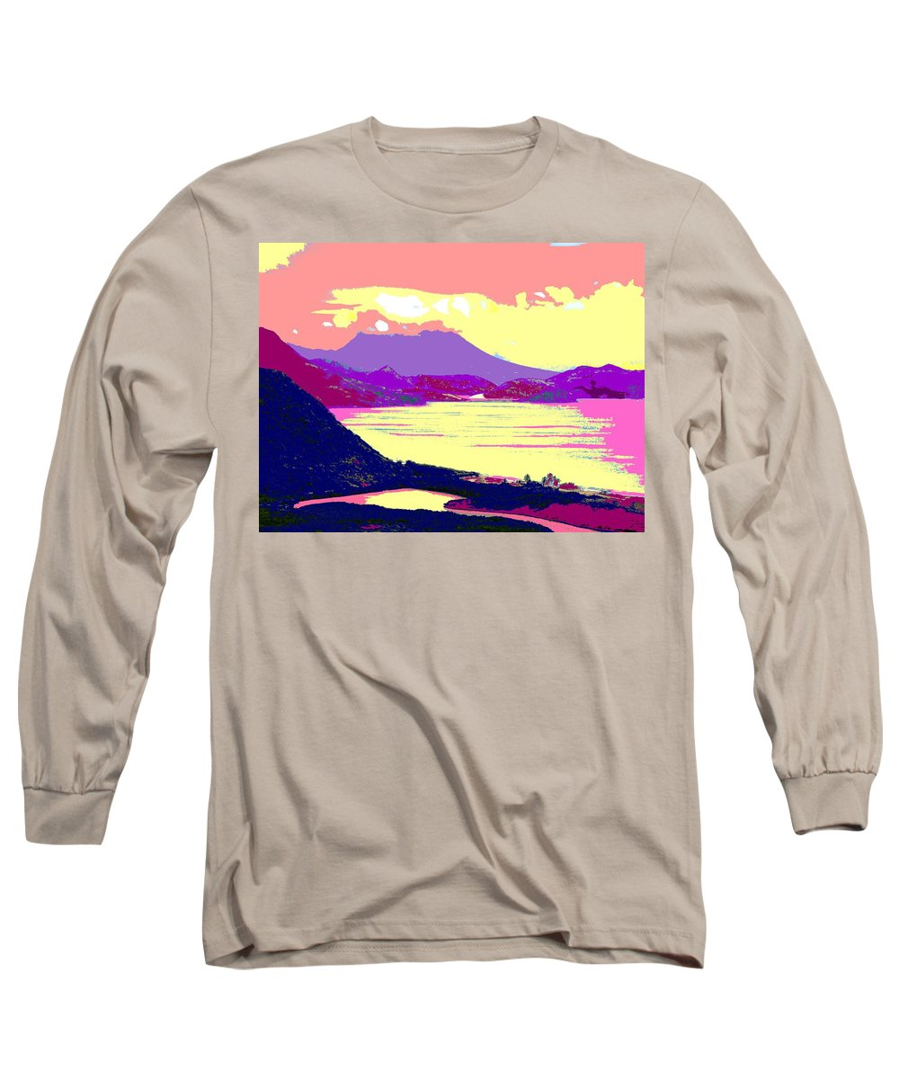 Nevis Long Sleeve T-Shirt featuring the photograph Nevis From The Penninsula by Ian MacDonald