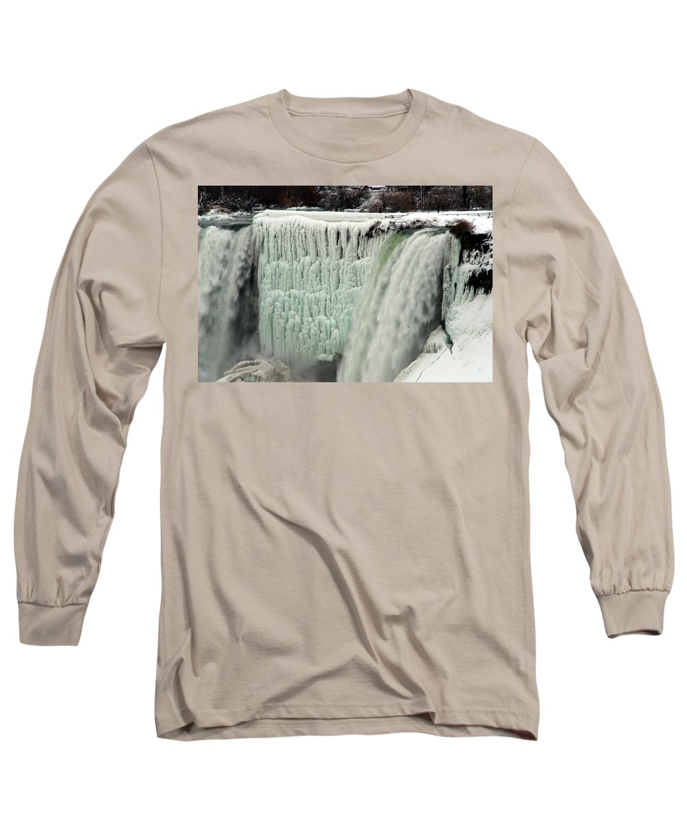 Landscape Long Sleeve T-Shirt featuring the photograph Niagara Falls 7 by Anthony Jones