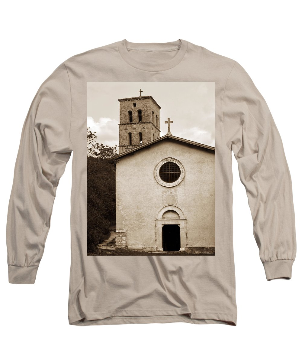 Curch Long Sleeve T-Shirt featuring the photograph Nice Old Church For Wedding by Marilyn Hunt