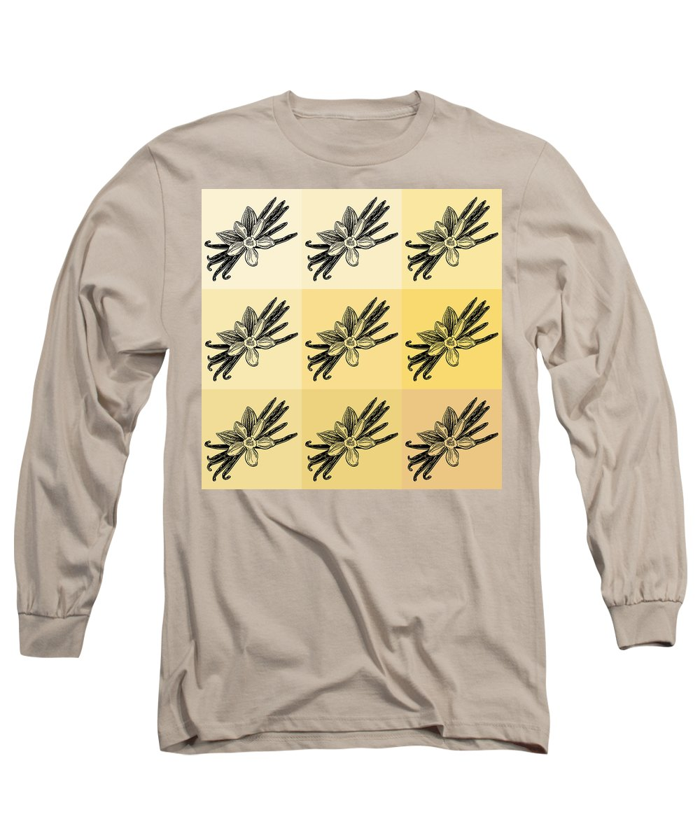 Vanilla Long Sleeve T-Shirt featuring the painting Nine Shades Of Vanilla by Irina Sztukowski