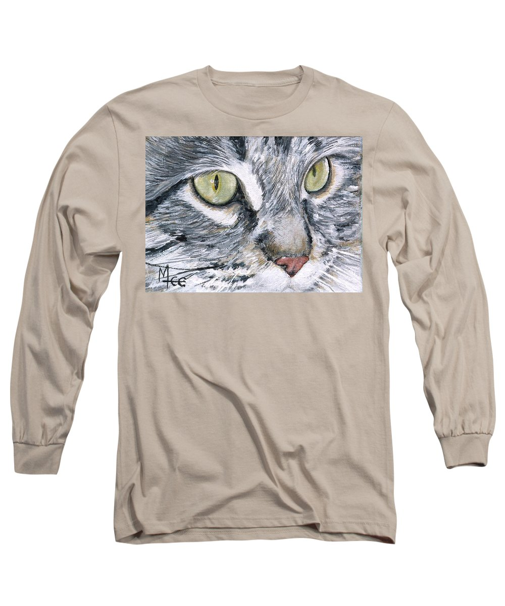 Charity Long Sleeve T-Shirt featuring the painting Noel by Mary-Lee Sanders