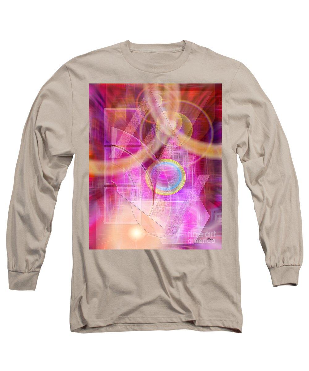 Northern Lights Long Sleeve T-Shirt featuring the digital art Northern Lights by John Beck