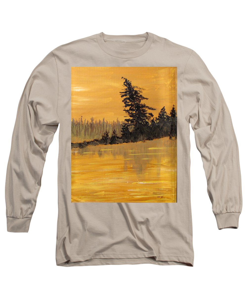 Northern Ontario Long Sleeve T-Shirt featuring the painting Northern Ontario Three by Ian MacDonald