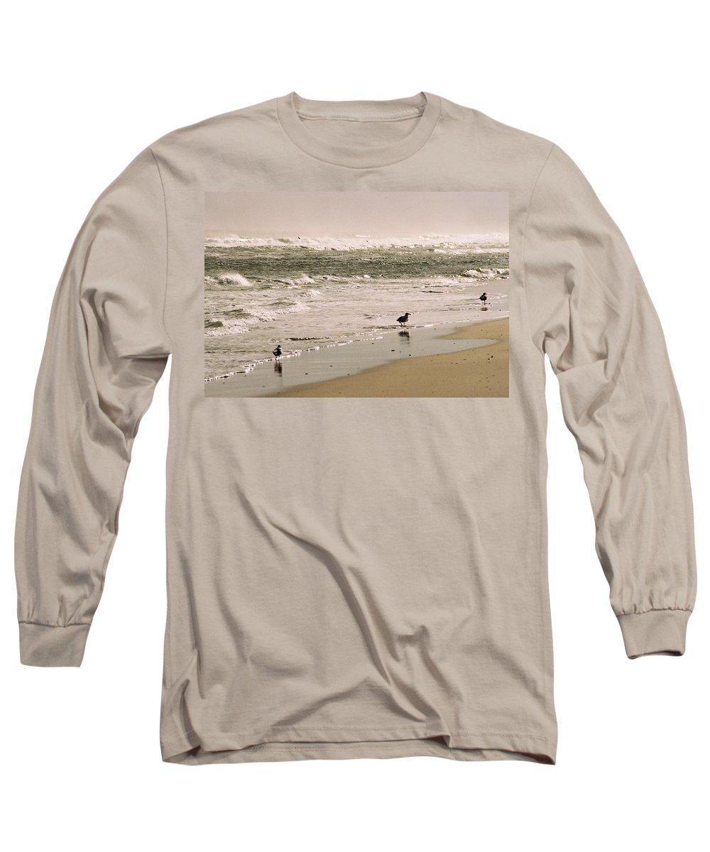 Seascape Long Sleeve T-Shirt featuring the photograph Ocean Edge by Steve Karol