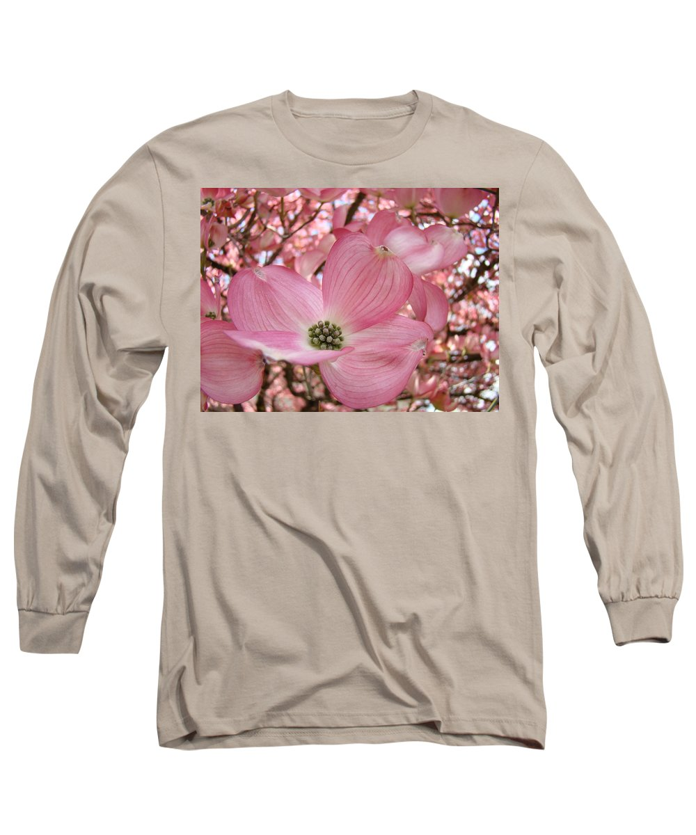 Dogwood Long Sleeve T-Shirt featuring the photograph Office Art Prints Pink Flowering Dogwood Tree 1 Giclee Prints Baslee Troutman by Baslee Troutman