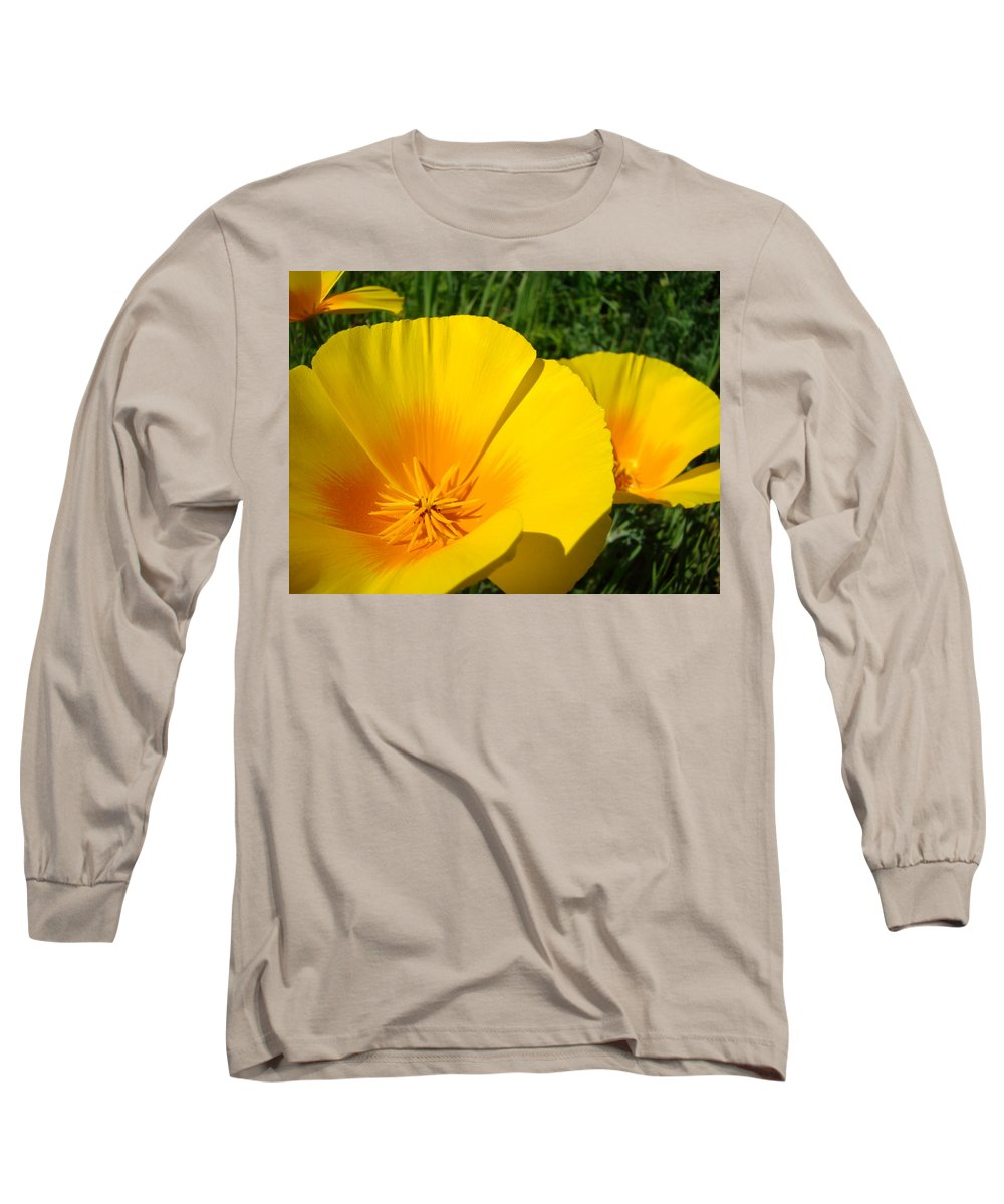 Office Long Sleeve T-Shirt featuring the photograph Office Art Prints Poppy Flowers 4 Poppies Giclee Prints Baslee Troutman by Baslee Troutman