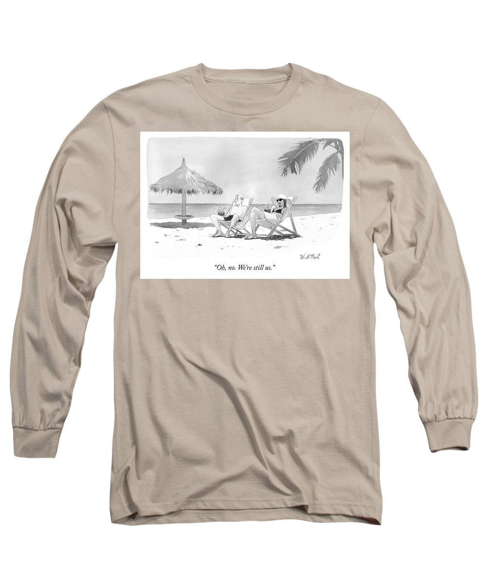 """oh Long Sleeve T-Shirt featuring the drawing Oh No by Will McPhail"