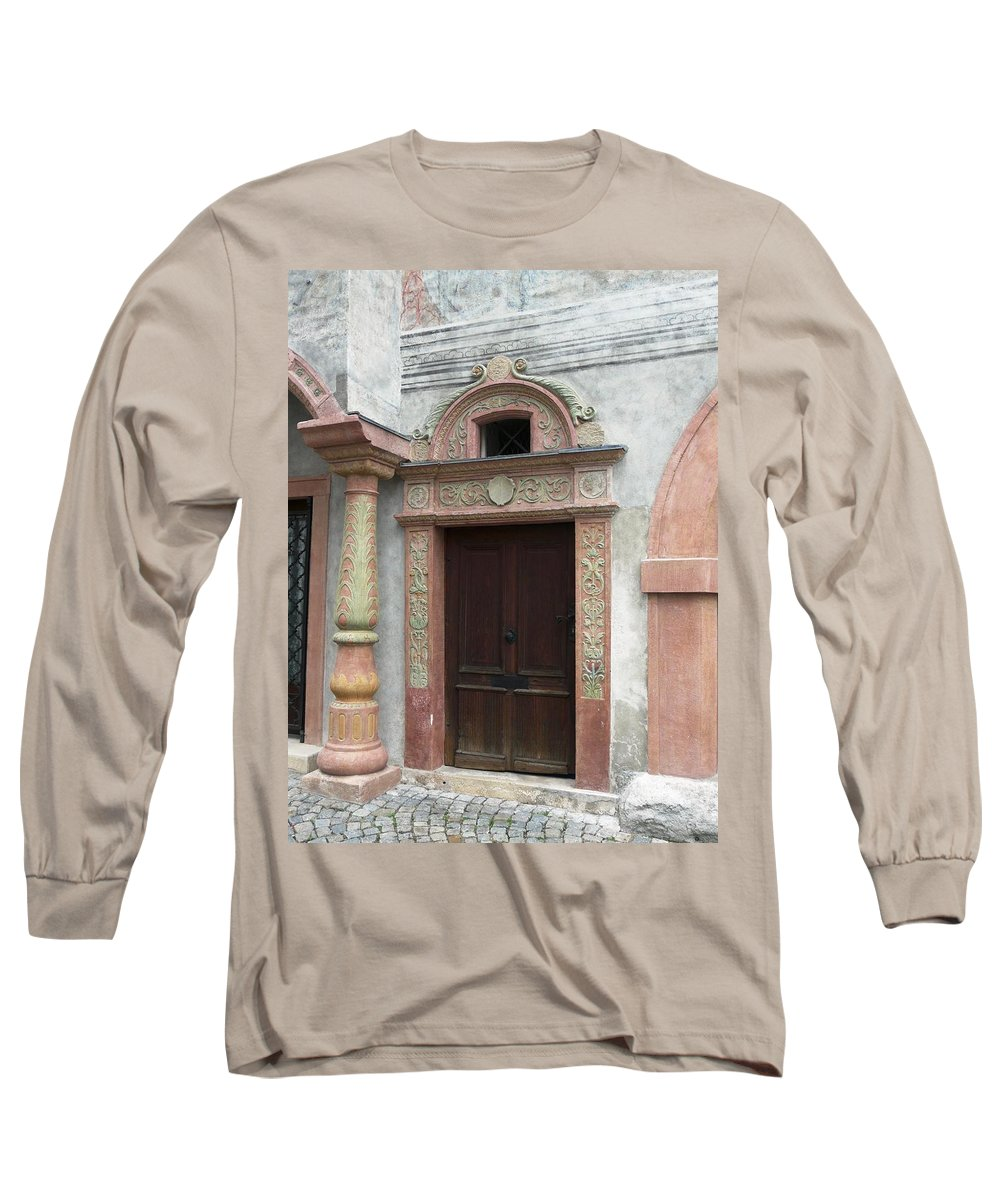 Old Long Sleeve T-Shirt featuring the photograph Old Austrian Door by Valerie Ornstein