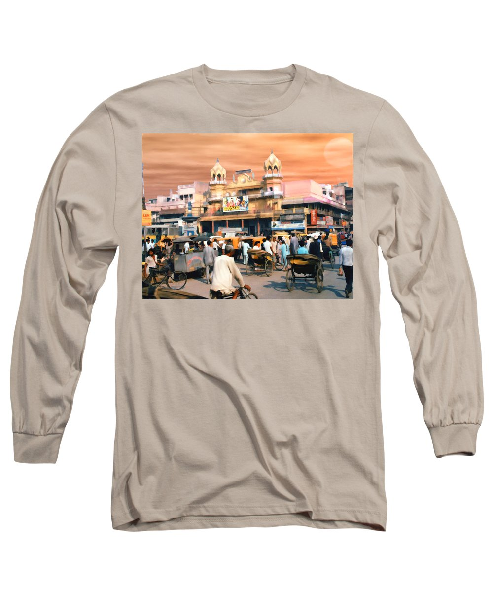 India Long Sleeve T-Shirt featuring the photograph Old Dehli by Kurt Van Wagner