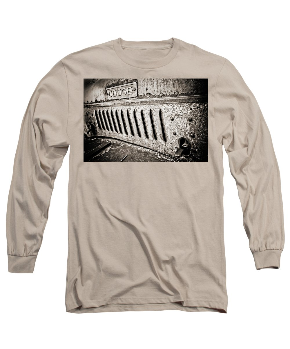 Americana Long Sleeve T-Shirt featuring the photograph Old Dodge Grille by Marilyn Hunt