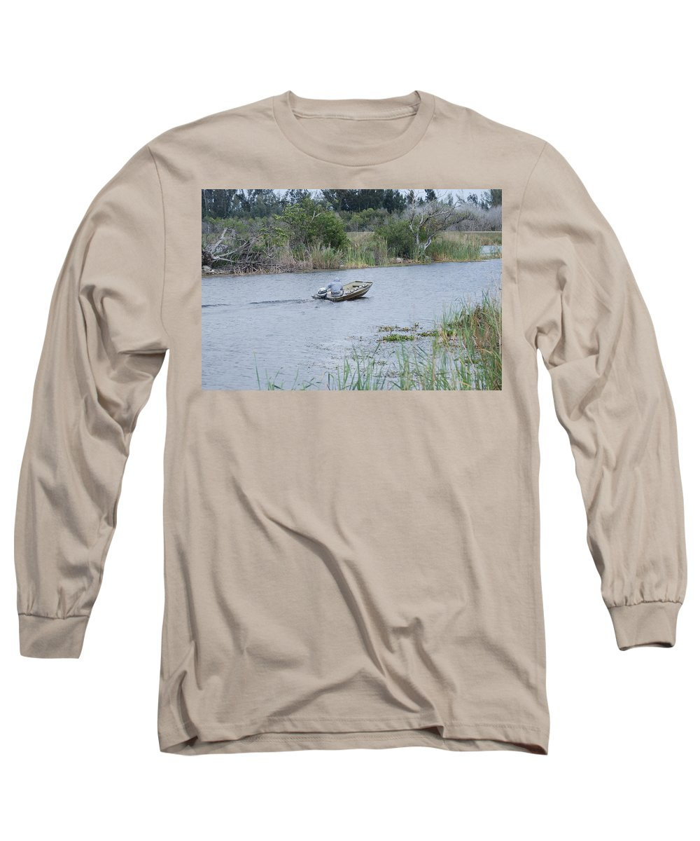 River Long Sleeve T-Shirt featuring the photograph Old Man River by Rob Hans