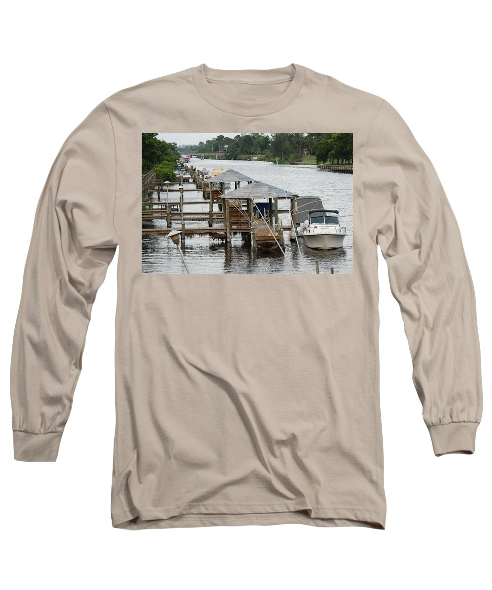 Boats Long Sleeve T-Shirt featuring the photograph On The Hillsboro Canal by Rob Hans