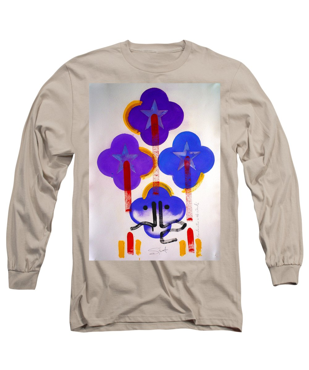 Drawing Long Sleeve T-Shirt featuring the painting Once Upon-a-time In The Woods by Charles Stuart