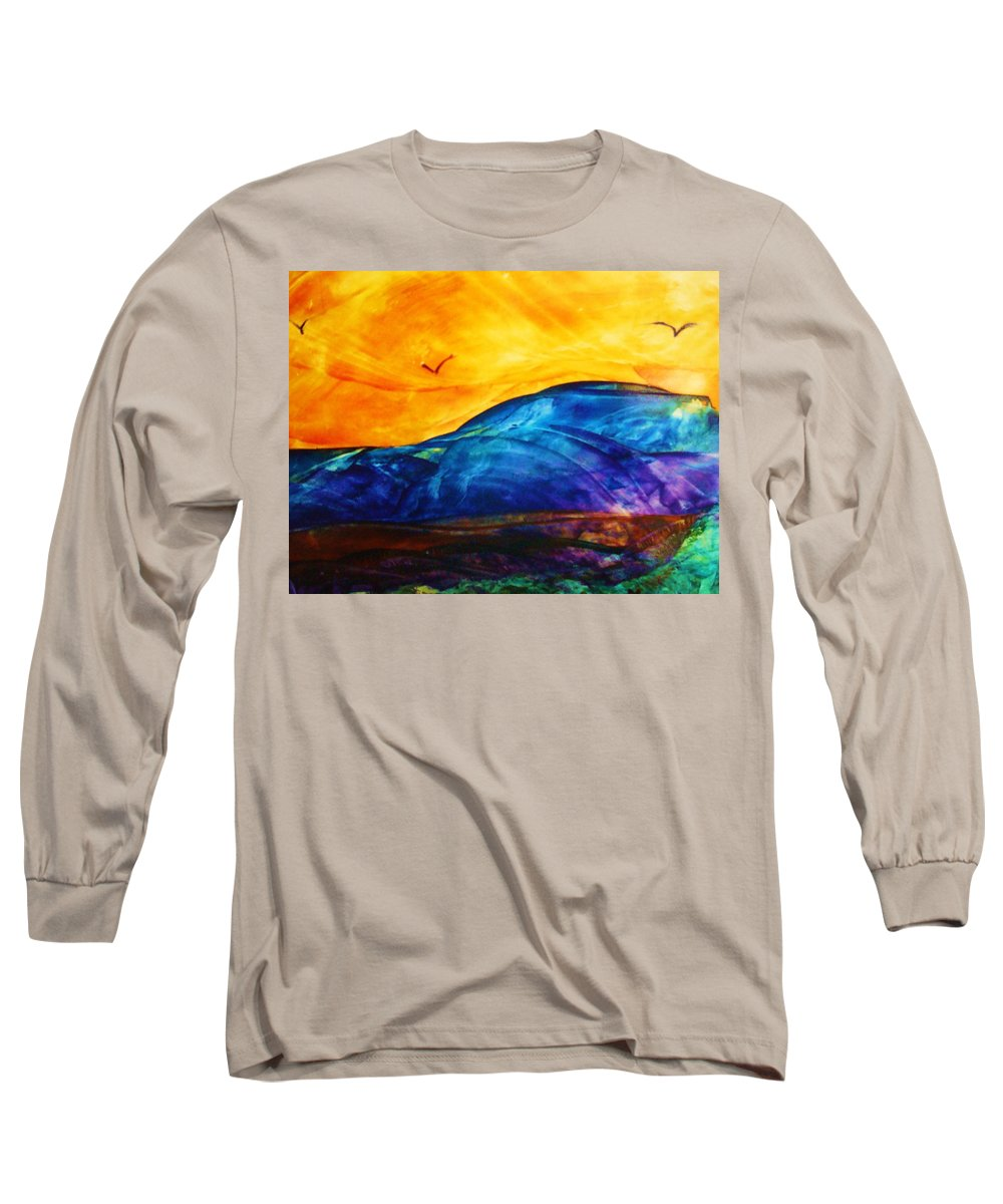 Landscape Long Sleeve T-Shirt featuring the painting One Fine Day by Melinda Etzold