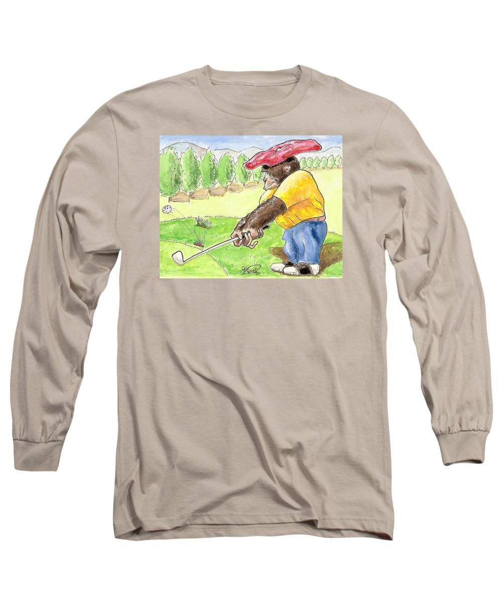 Golf Long Sleeve T-Shirt featuring the painting Oops by George I Perez