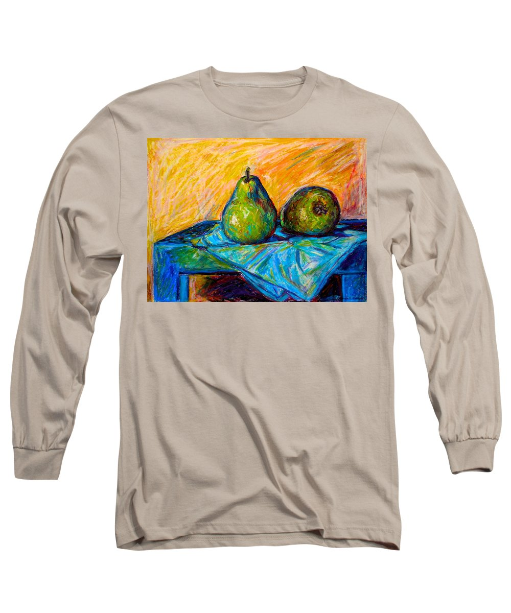 Still Life Long Sleeve T-Shirt featuring the painting Other Pears by Kendall Kessler