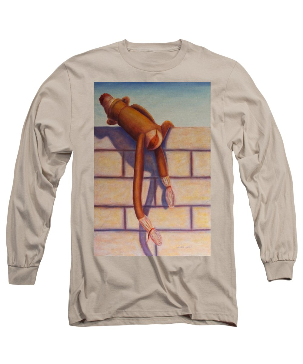 Children Long Sleeve T-Shirt featuring the painting Over The Top by Shannon Grissom
