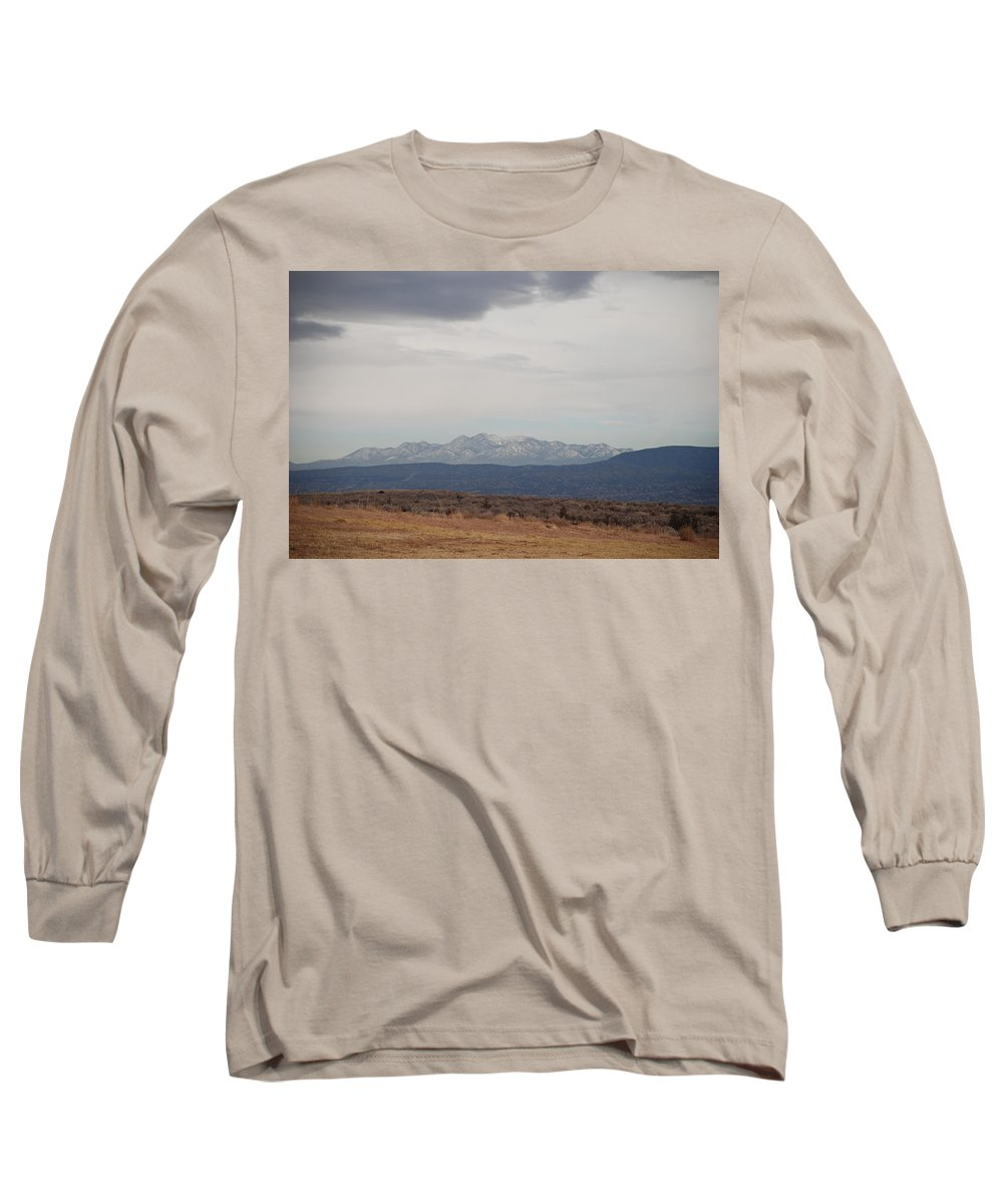 Mountains Long Sleeve T-Shirt featuring the photograph Overcast On The Sandias by Rob Hans