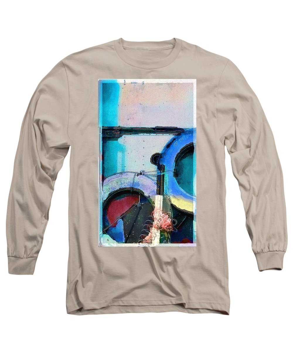 Abstract Long Sleeve T-Shirt featuring the photograph panel three from Centrifuge by Steve Karol