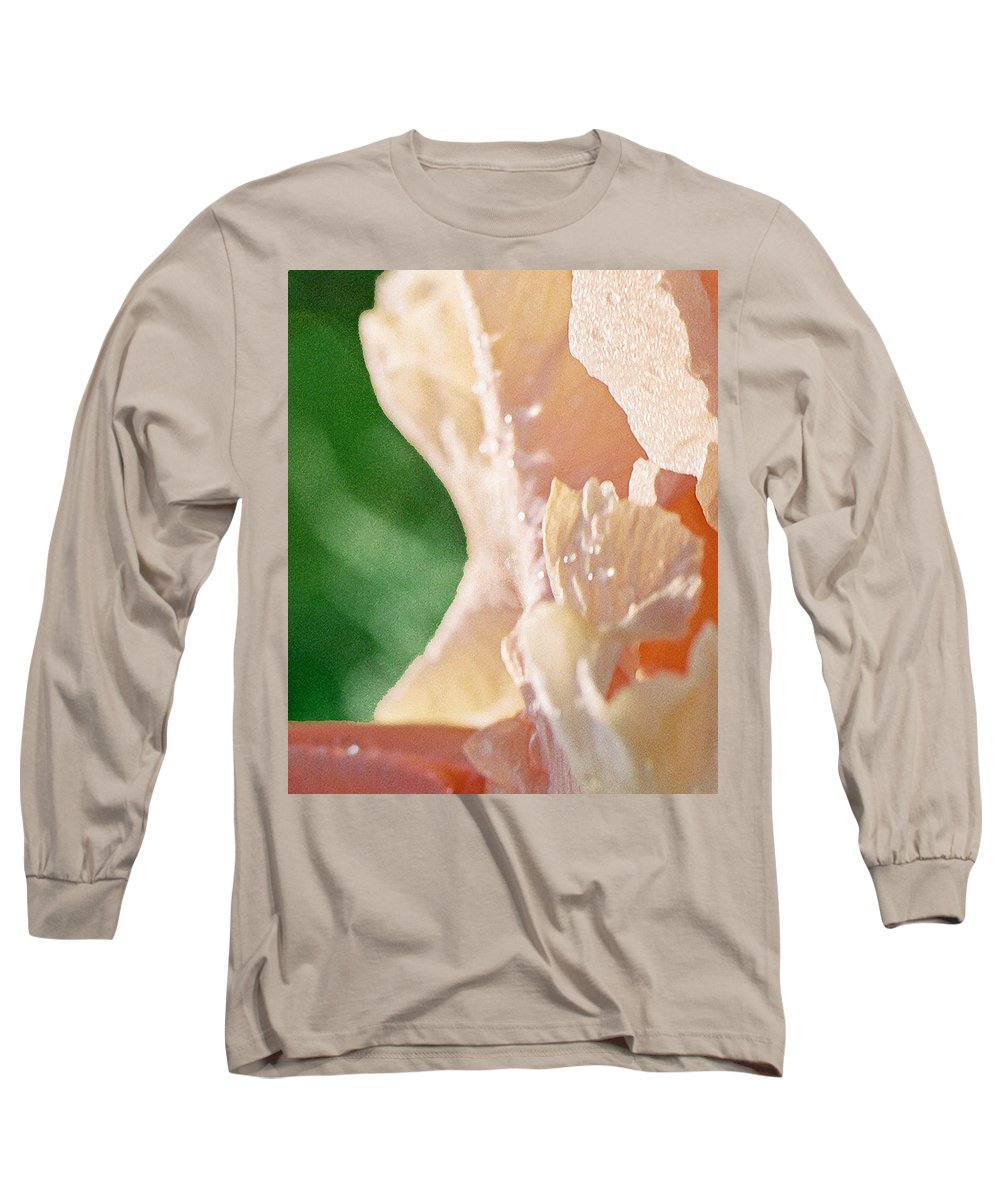 Abstract Long Sleeve T-Shirt featuring the photograph panel two from Iris by Steve Karol