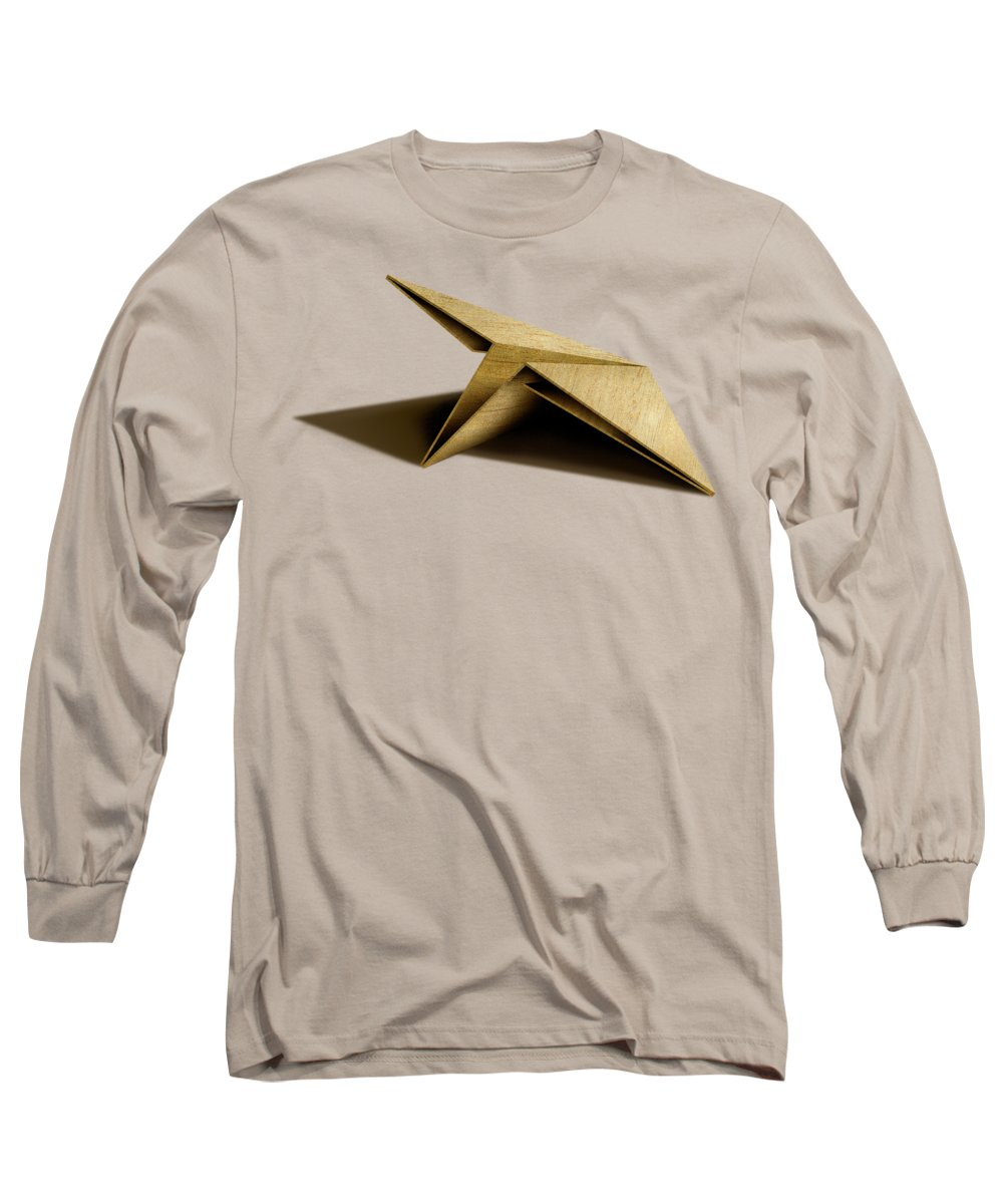 Paper Airplane Long Sleeve T-Shirt featuring the photograph Paper Airplanes of Wood 7 by YoPedro