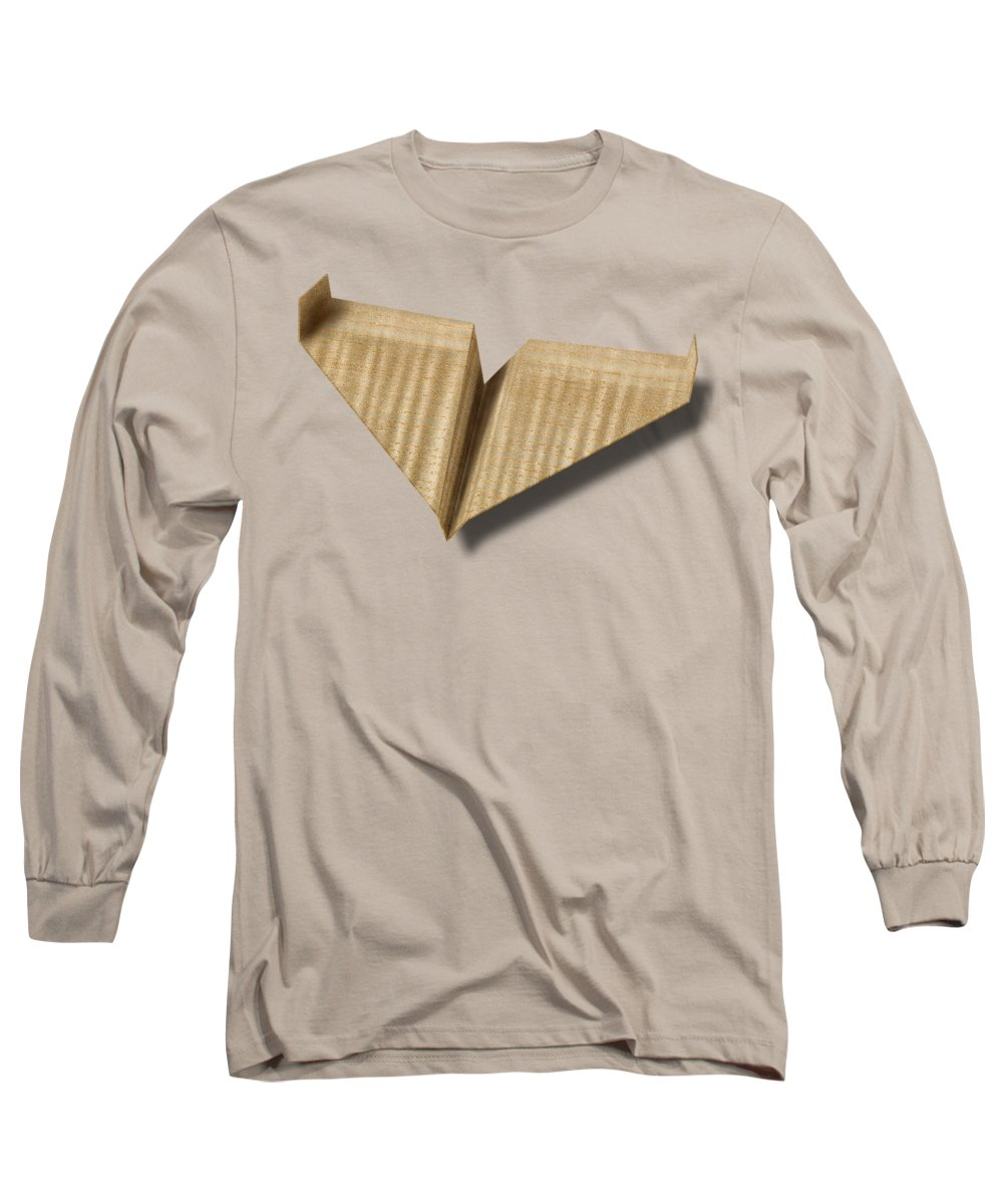 Aircraft Long Sleeve T-Shirt featuring the photograph Paper Airplanes Of Wood 8 by YoPedro