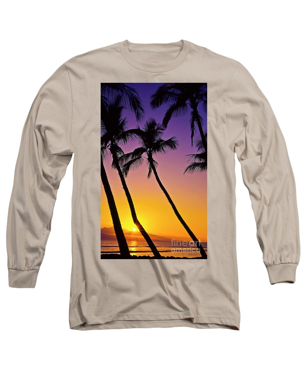 Sunset Long Sleeve T-Shirt featuring the photograph Paradise by Jim Cazel