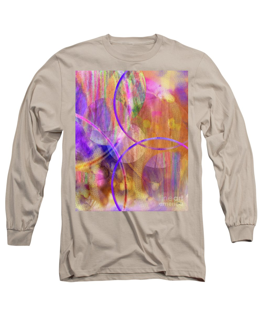 Pastel Planets Long Sleeve T-Shirt featuring the digital art Pastel Planets by John Beck