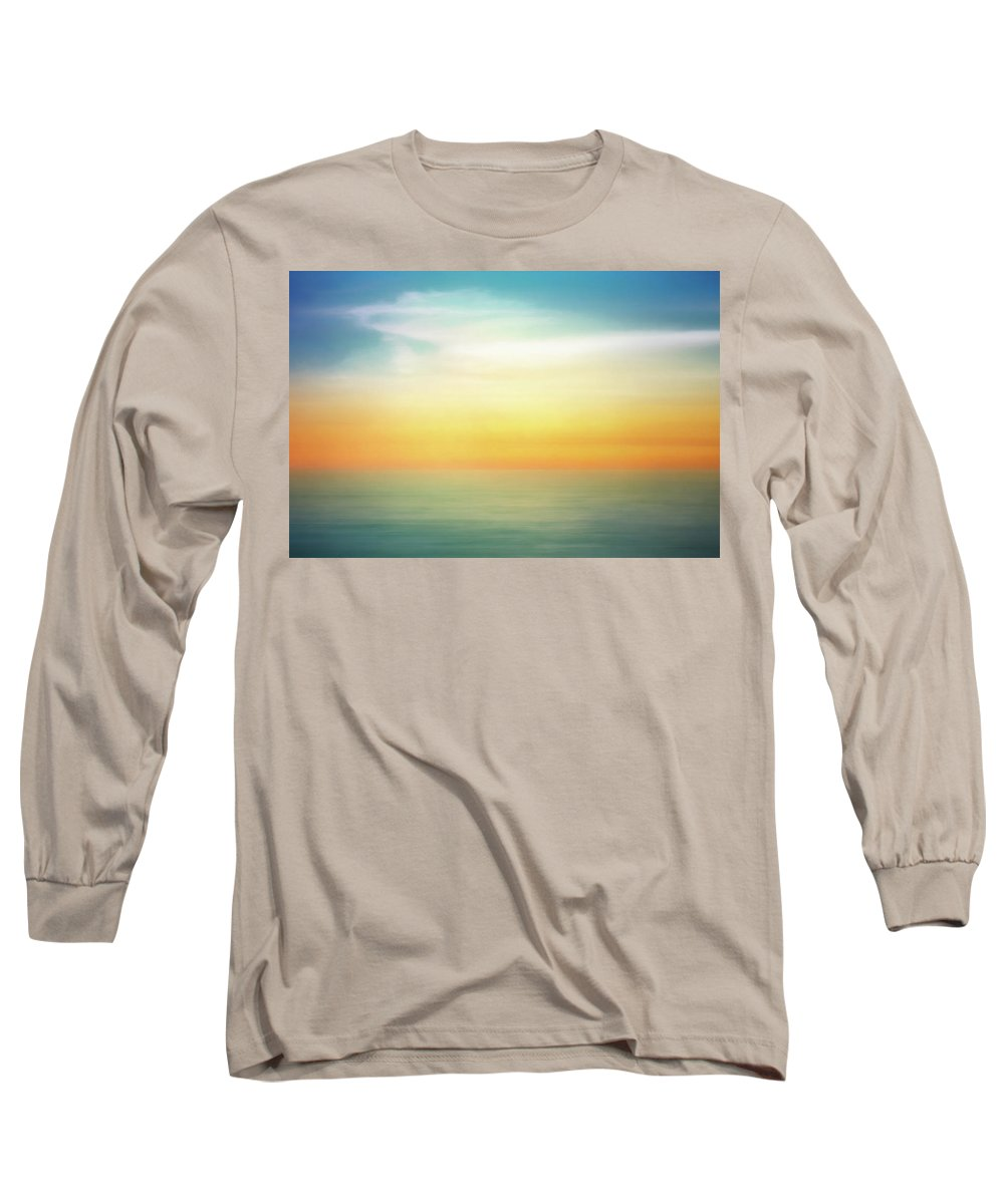 Pastel Long Sleeve T-Shirt featuring the digital art Pastel Sunrise by Scott Norris