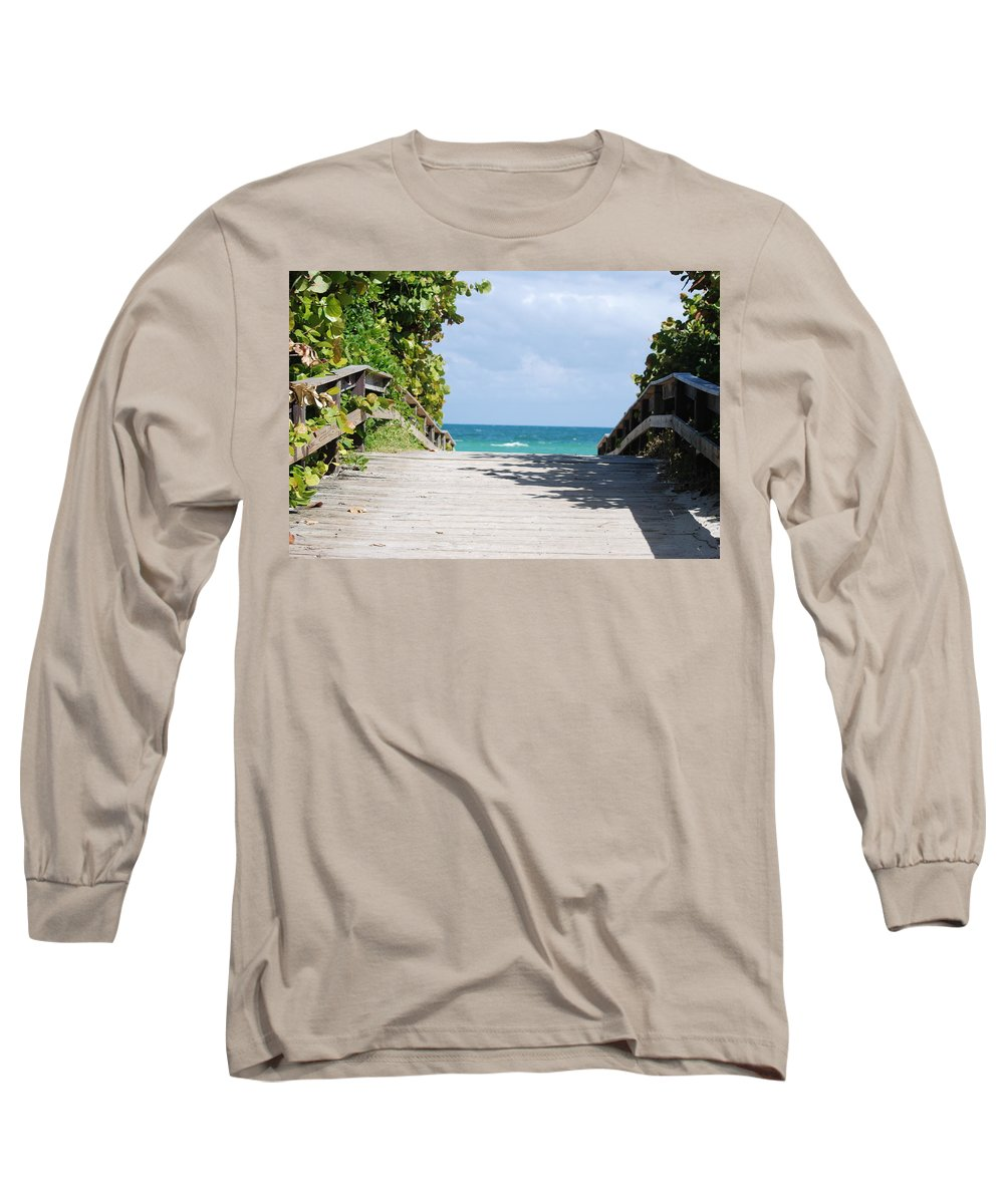 Sea Scape Long Sleeve T-Shirt featuring the photograph Path To Paradise by Rob Hans