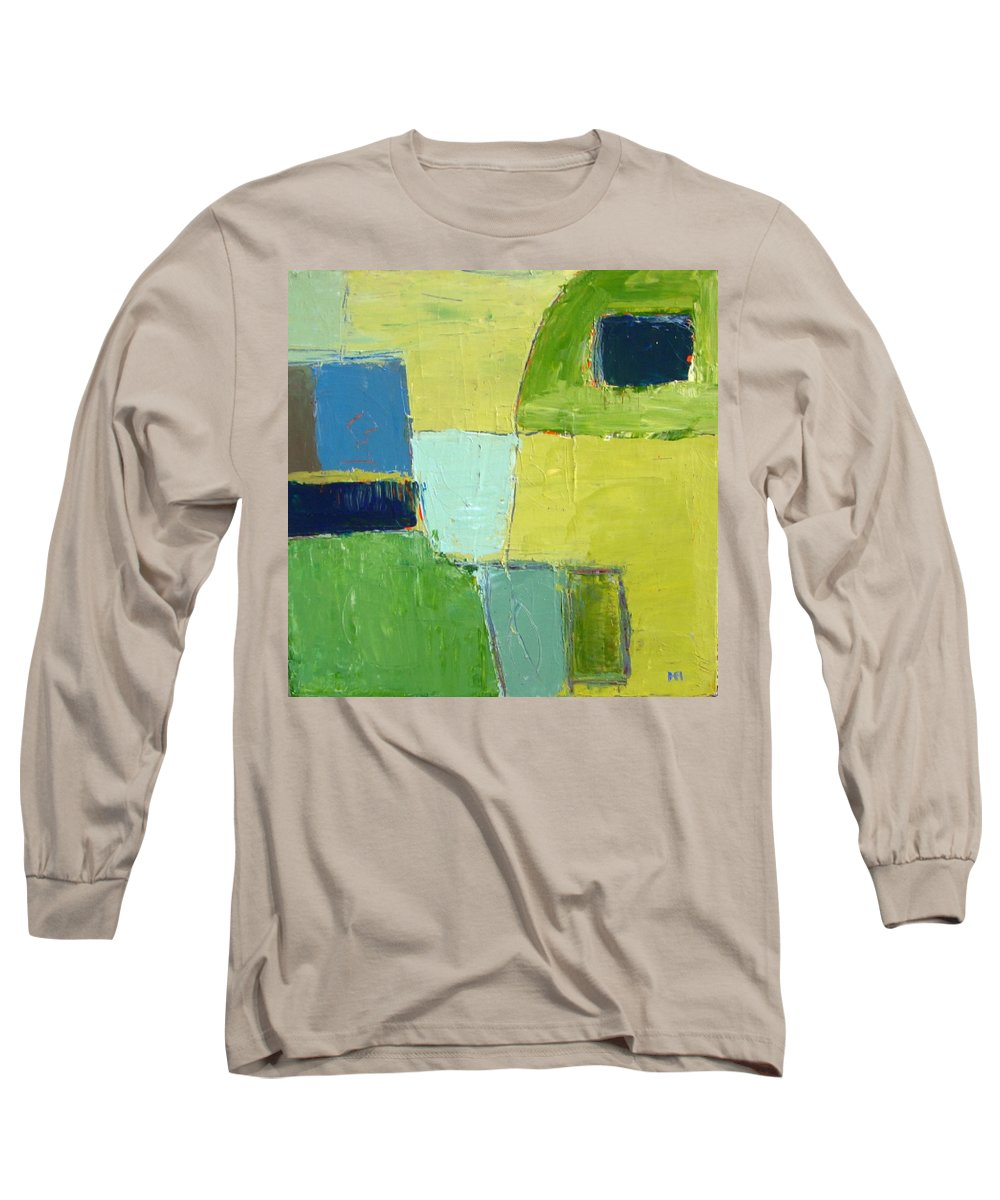 Abstract Long Sleeve T-Shirt featuring the painting Peace 1 by Habib Ayat