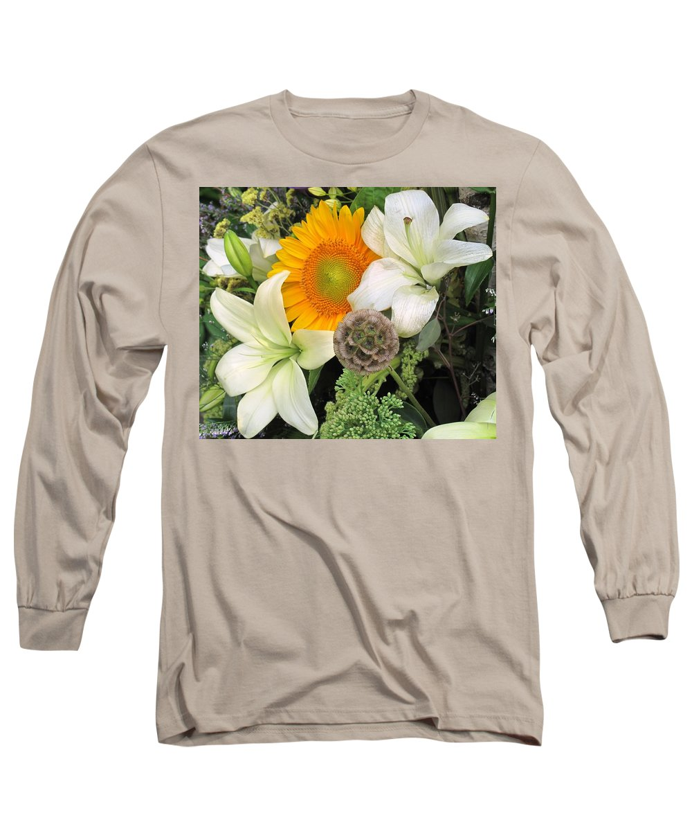 Lillies Long Sleeve T-Shirt featuring the photograph Peeking Out by Ian MacDonald