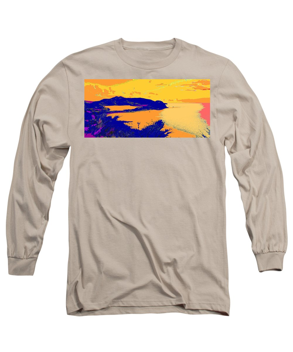 St Kitts Long Sleeve T-Shirt featuring the photograph Peninsula Orange by Ian MacDonald