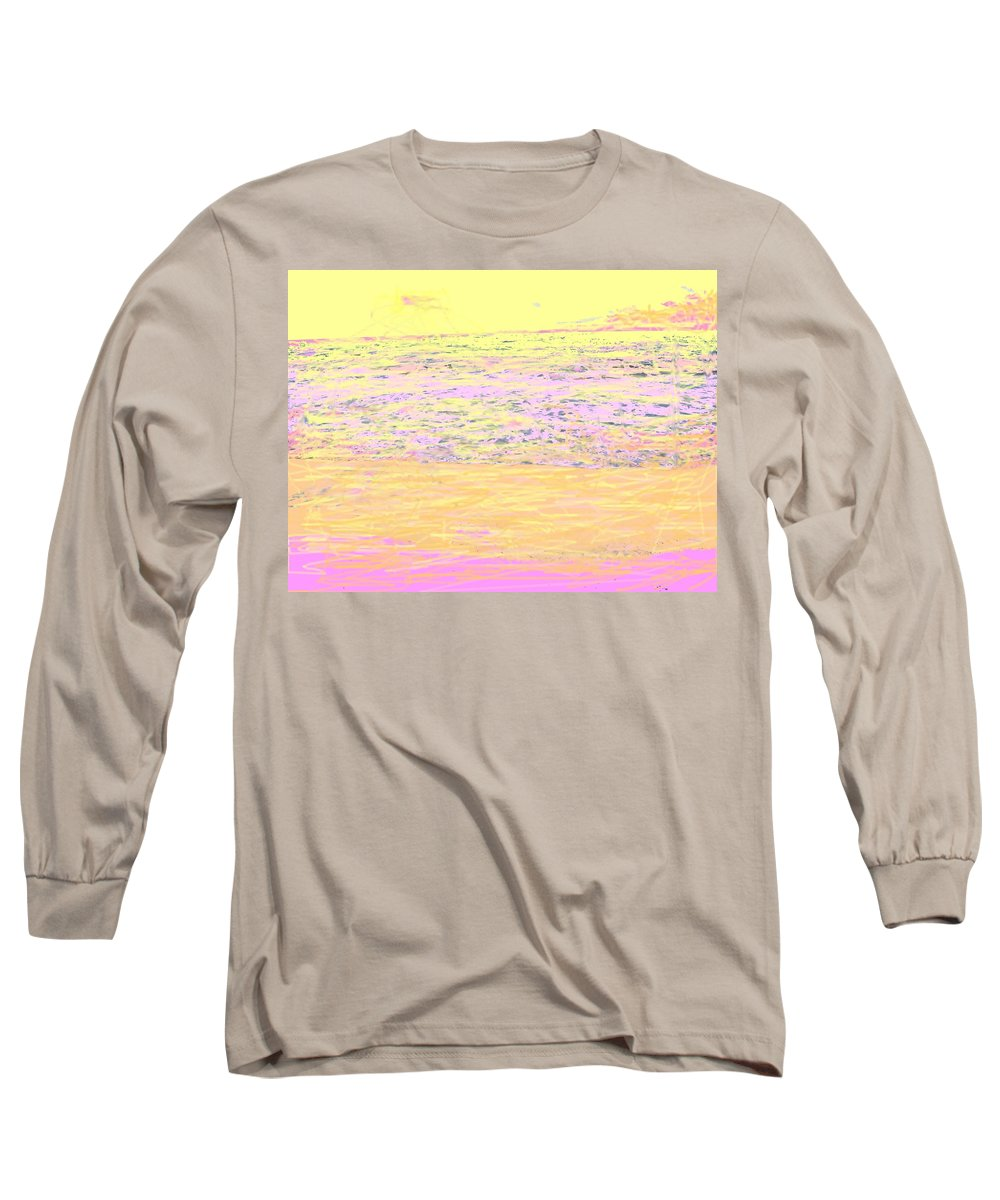 Seascape Long Sleeve T-Shirt featuring the photograph Pineapple Sunset by Ian MacDonald