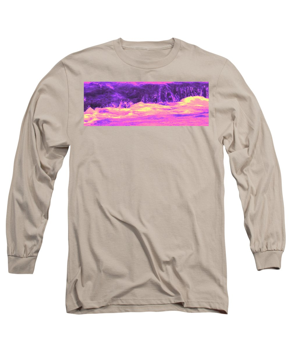 Seascape Long Sleeve T-Shirt featuring the photograph Pink Tidal Pool by Ian MacDonald