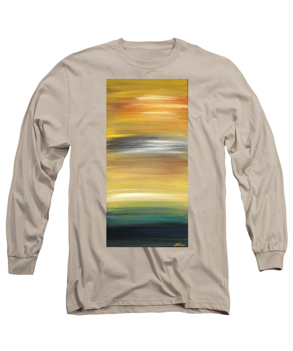 Waves Long Sleeve T-Shirt featuring the painting Pond by Todd Hoover
