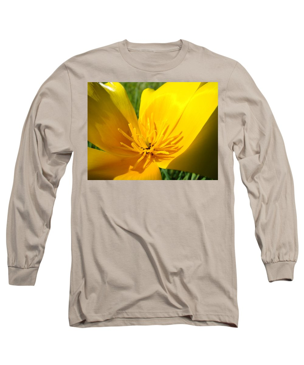 �poppies Artwork� Long Sleeve T-Shirt featuring the photograph Poppy Flower Close Up Macro 20 Poppies Meadow Giclee Art Prints Baslee Troutman by Baslee Troutman