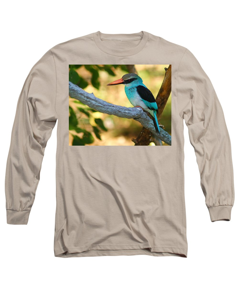Kingfisher Long Sleeve T-Shirt featuring the photograph Pretty Bird by Gaby Swanson