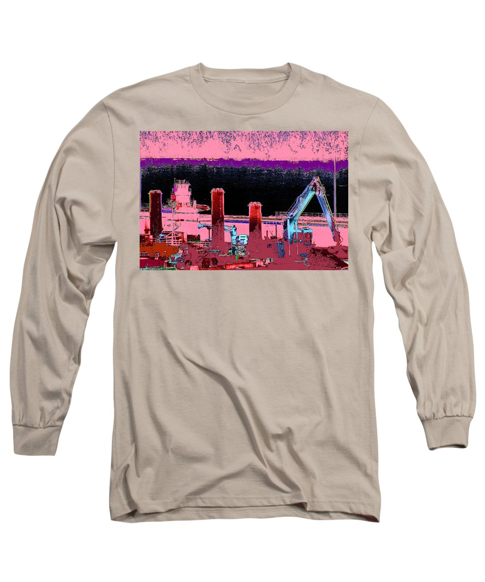 Abstract Long Sleeve T-Shirt featuring the photograph Pretty In Pink by Rachel Christine Nowicki
