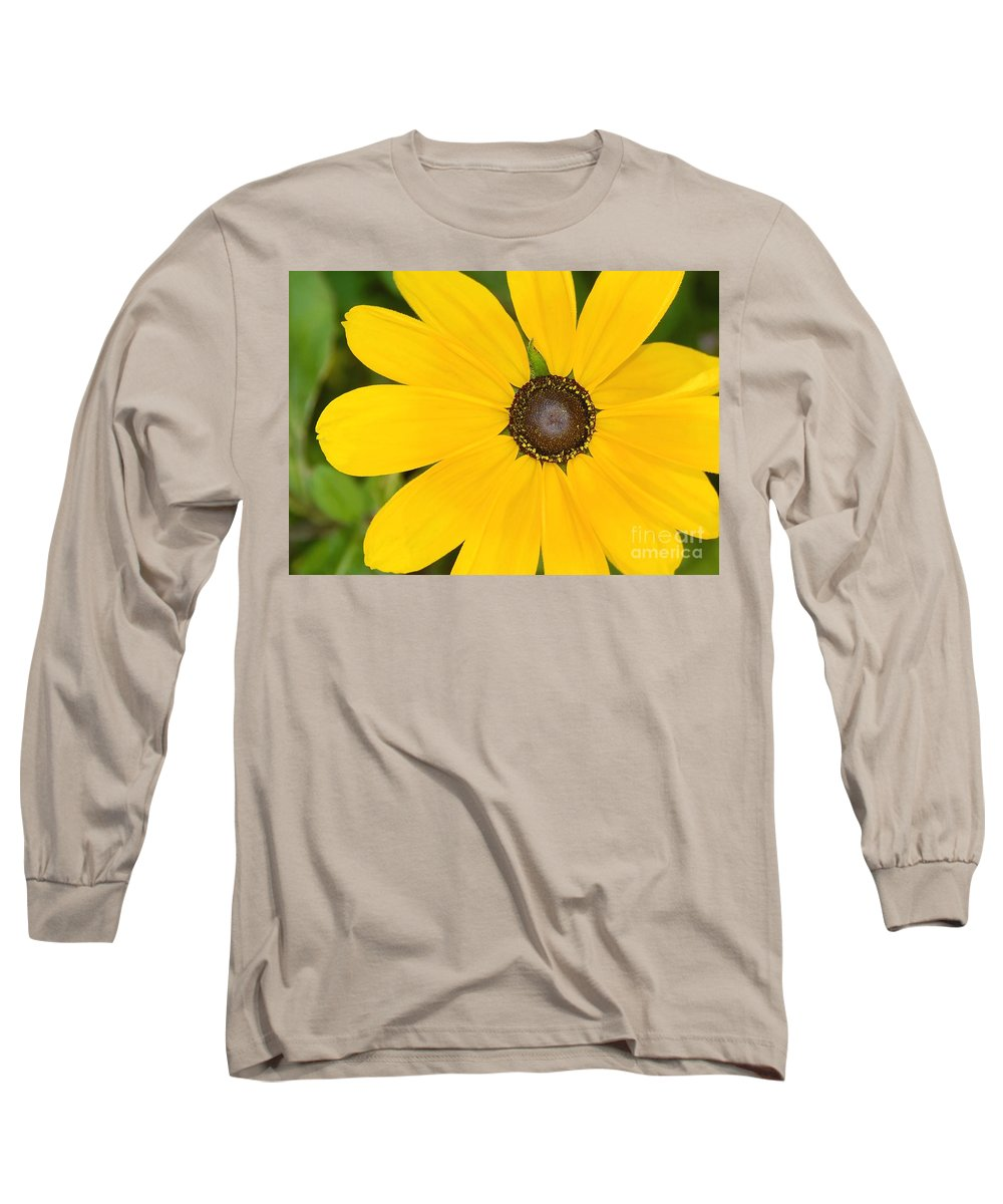 Yellow Flower Long Sleeve T-Shirt featuring the photograph Pretty In Yellow by David Lee Thompson