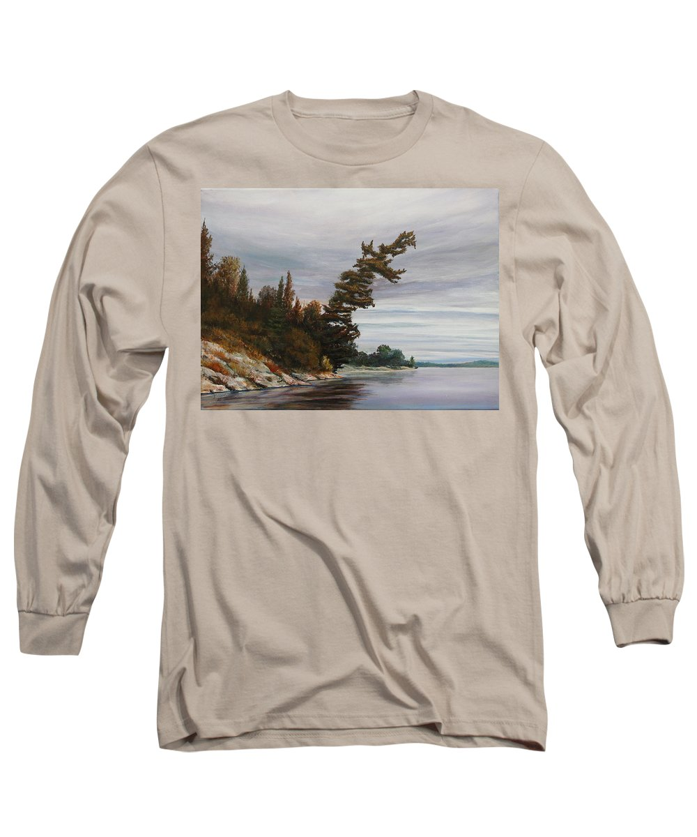 Landscape Long Sleeve T-Shirt featuring the painting Ptarmigan Bay by Ruth Kamenev
