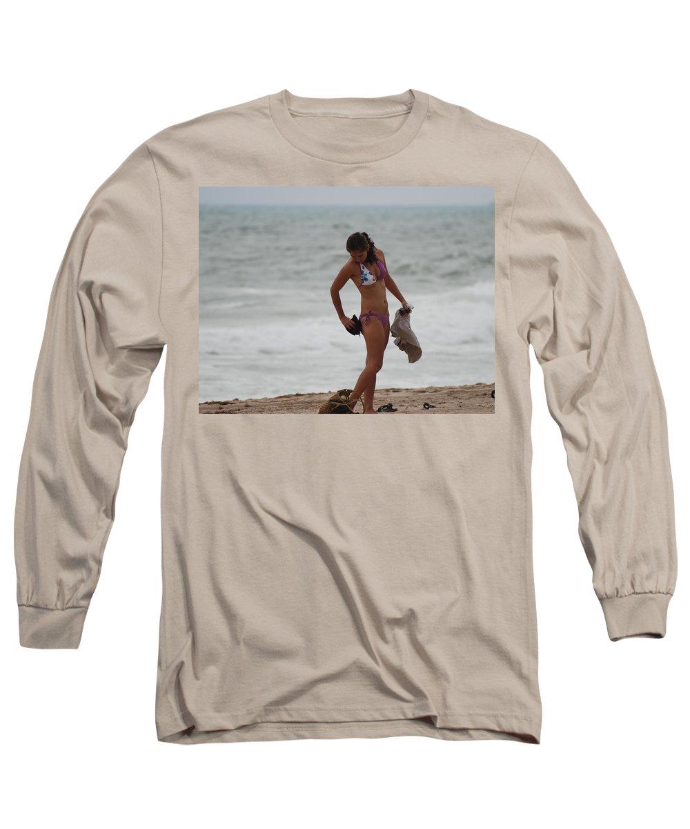 Bikinis Long Sleeve T-Shirt featuring the photograph Purple Bikini by Rob Hans