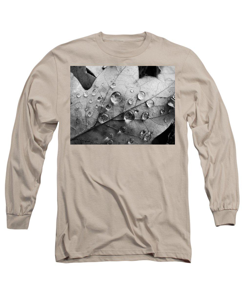 Drops Long Sleeve T-Shirt featuring the photograph Raindrops by Daniel Csoka